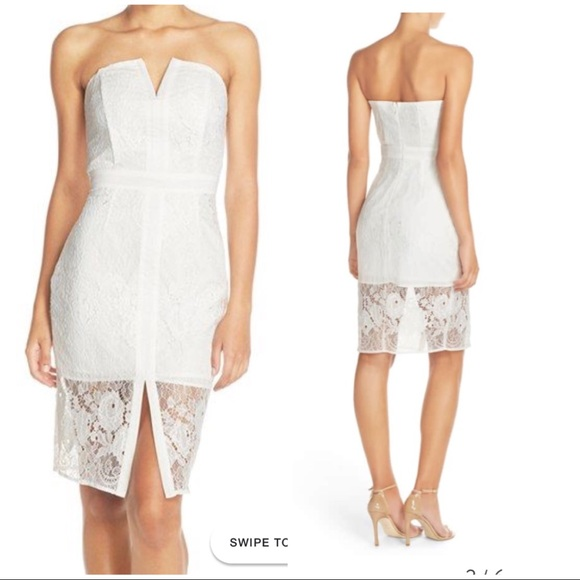 b2868a2ddcad Adelyn Rae Dresses | Adeline Rae White Strapless Dress | Poshmark